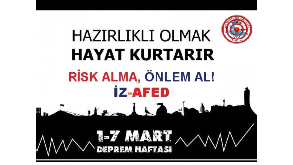 1-7 Mart Deprem Haftası Söyleşisi